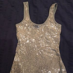 Express xs silver sequin